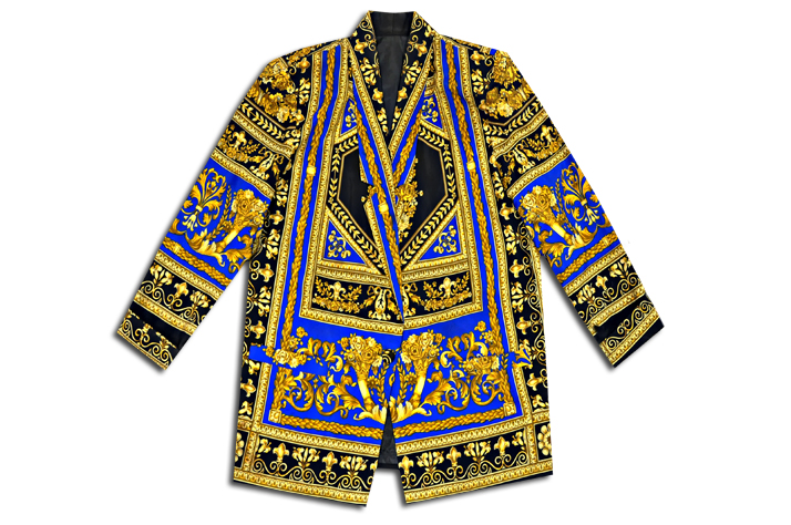 476877cc2a Archival Gold Lux Versailles Paneled Blazer Notes: Ancestral Versace ...