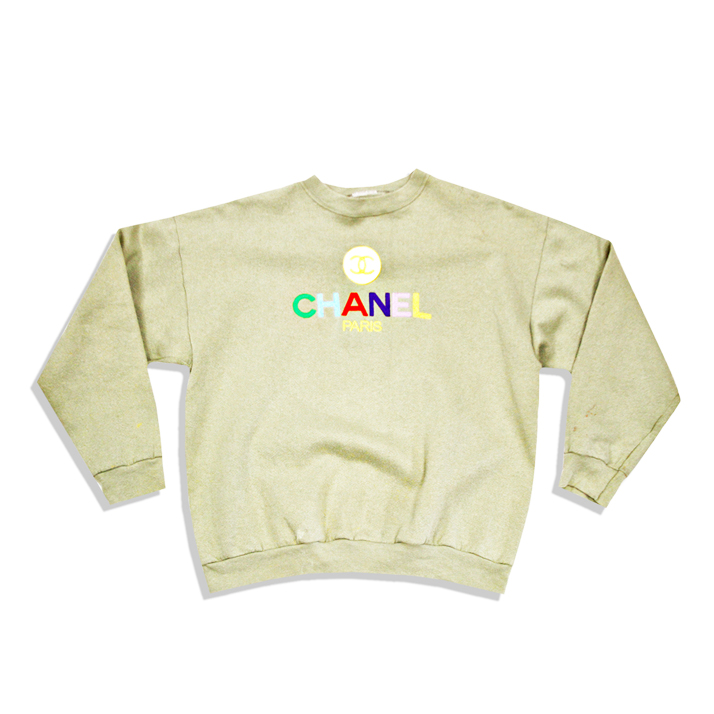 CHANELGreenCrewneck