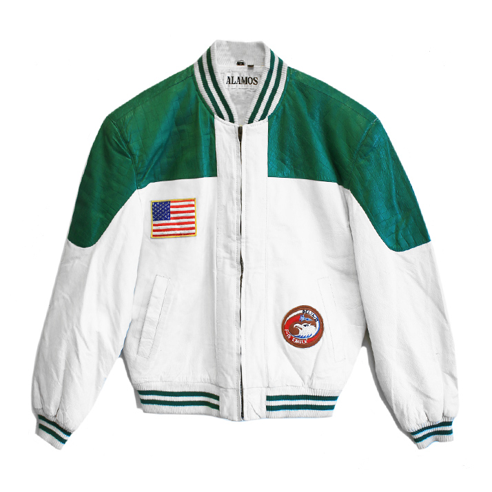 LeatherGreenZipJacket