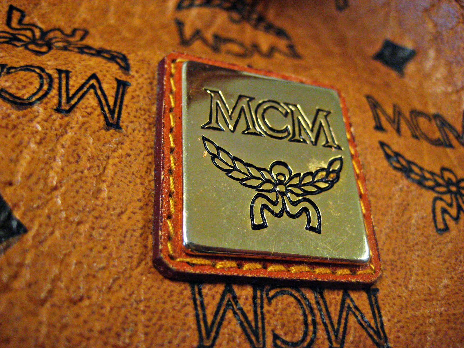 mcm monogram wallpaper. Black Bedroom Furniture Sets. Home Design Ideas